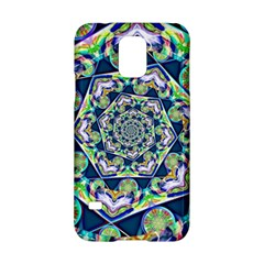 Power Spiral Polygon Blue Green White Samsung Galaxy S5 Hardshell Case