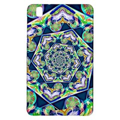 Power Spiral Polygon Blue Green White Samsung Galaxy Tab Pro 8 4 Hardshell Case by EDDArt