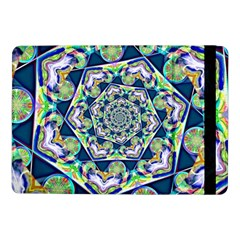 Power Spiral Polygon Blue Green White Samsung Galaxy Tab Pro 10 1  Flip Case by EDDArt