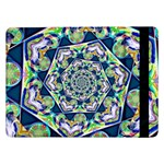 Power Spiral Polygon Blue Green White Samsung Galaxy Tab Pro 12.2  Flip Case Front