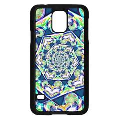 Power Spiral Polygon Blue Green White Samsung Galaxy S5 Case (black) by EDDArt