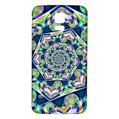 Power Spiral Polygon Blue Green White Samsung Galaxy S5 Back Case (white) by EDDArt