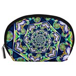 Power Spiral Polygon Blue Green White Accessory Pouches (Large)  Front