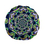 Power Spiral Polygon Blue Green White Standard 15  Premium Flano Round Cushions Back