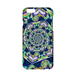 Power Spiral Polygon Blue Green White Apple Iphone 6/6s Hardshell Case by EDDArt
