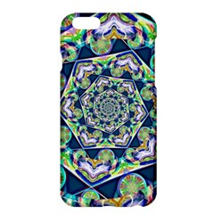 Power Spiral Polygon Blue Green White Apple Iphone 6 Plus/6s Plus Hardshell Case by EDDArt