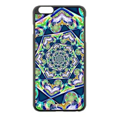 Power Spiral Polygon Blue Green White Apple Iphone 6 Plus/6s Plus Black Enamel Case by EDDArt