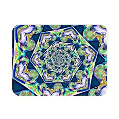 Power Spiral Polygon Blue Green White Double Sided Flano Blanket (mini)  by EDDArt