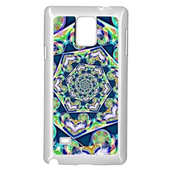 Power Spiral Polygon Blue Green White Samsung Galaxy Note 4 Case (white) by EDDArt