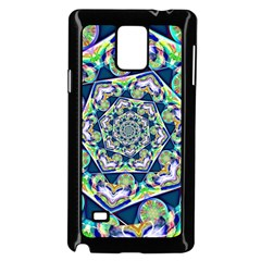 Power Spiral Polygon Blue Green White Samsung Galaxy Note 4 Case (black) by EDDArt