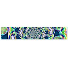 Power Spiral Polygon Blue Green White Flano Scarf (large)