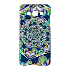 Power Spiral Polygon Blue Green White Samsung Galaxy A5 Hardshell Case  by EDDArt