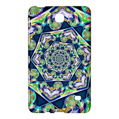 Power Spiral Polygon Blue Green White Samsung Galaxy Tab 4 (7 ) Hardshell Case  by EDDArt