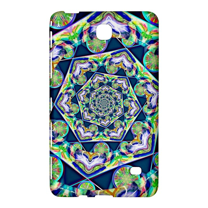 Power Spiral Polygon Blue Green White Samsung Galaxy Tab 4 (7 ) Hardshell Case