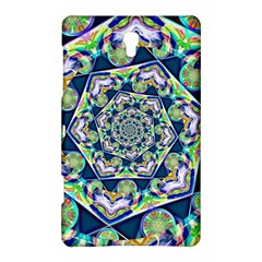 Power Spiral Polygon Blue Green White Samsung Galaxy Tab S (8 4 ) Hardshell Case  by EDDArt