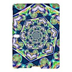 Power Spiral Polygon Blue Green White Samsung Galaxy Tab S (10 5 ) Hardshell Case  by EDDArt
