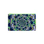 Power Spiral Polygon Blue Green White Cosmetic Bag (XS) Front