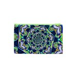 Power Spiral Polygon Blue Green White Cosmetic Bag (XS) Back