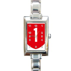 New Zealand State Highway 1 Rectangle Italian Charm Watch by abbeyz71