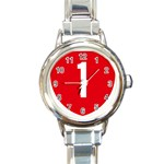 New Zealand State Highway 1 Round Italian Charm Watch Front
