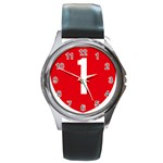 New Zealand State Highway 1 Round Metal Watch Front