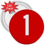 New Zealand State Highway 1 3  Buttons (100 pack)  Front
