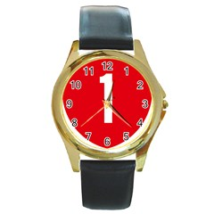 New Zealand State Highway 1 Round Gold Metal Watch by abbeyz71
