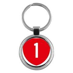 New Zealand State Highway 1 Key Chains (Round)