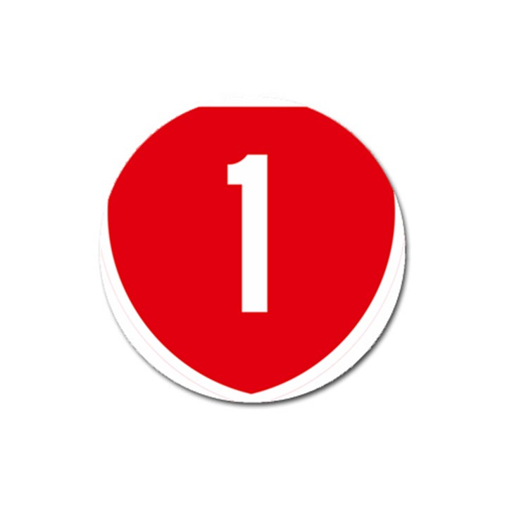 New Zealand State Highway 1 Magnet 3  (Round)