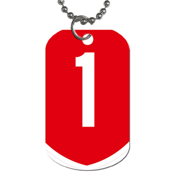New Zealand State Highway 1 Dog Tag (Two Sides)