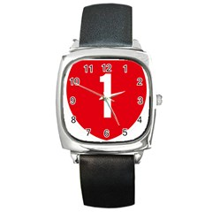 New Zealand State Highway 1 Square Metal Watch by abbeyz71