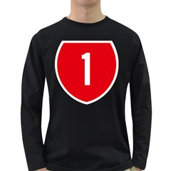 New Zealand State Highway 1 Long Sleeve Dark T Shirts