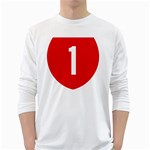 New Zealand State Highway 1 White Long Sleeve T-Shirts Front
