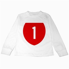 New Zealand State Highway 1 Kids Long Sleeve T-Shirts