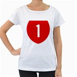 New Zealand State Highway 1 Women s Loose-Fit T-Shirt (White) Front