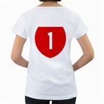 New Zealand State Highway 1 Women s Loose-Fit T-Shirt (White) Back