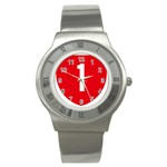 New Zealand State Highway 1 Stainless Steel Watch Front