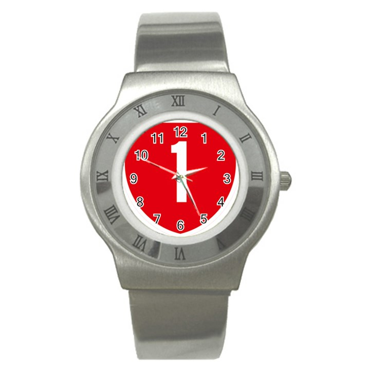 New Zealand State Highway 1 Stainless Steel Watch