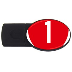 New Zealand State Highway 1 USB Flash Drive Oval (4 GB)