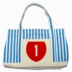 New Zealand State Highway 1 Striped Blue Tote Bag Front