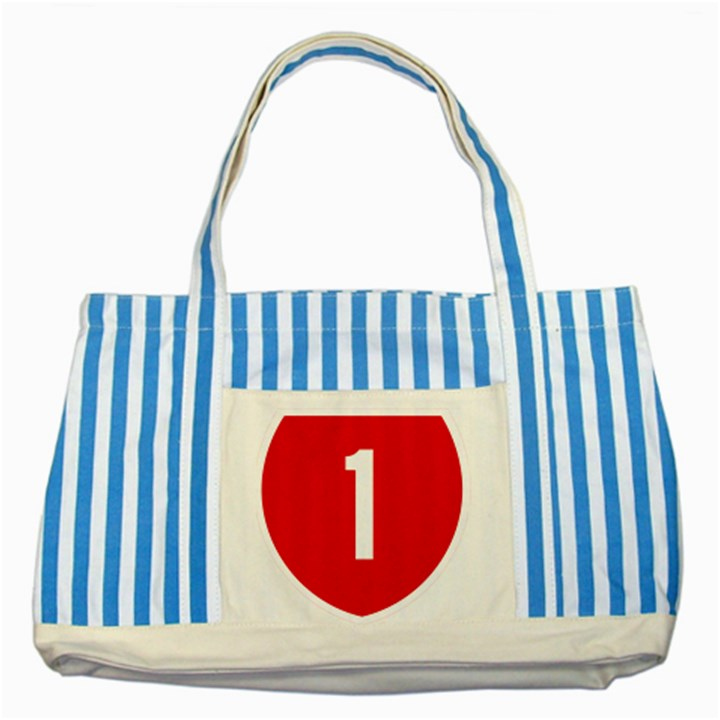 New Zealand State Highway 1 Striped Blue Tote Bag