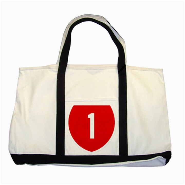 New Zealand State Highway 1 Two Tone Tote Bag