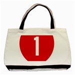 New Zealand State Highway 1 Basic Tote Bag (Two Sides) Back