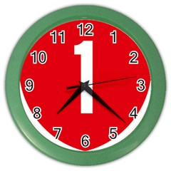 New Zealand State Highway 1 Color Wall Clocks