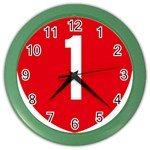 New Zealand State Highway 1 Color Wall Clocks Front