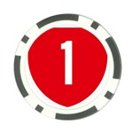New Zealand State Highway 1 Poker Chip Card Guards Back