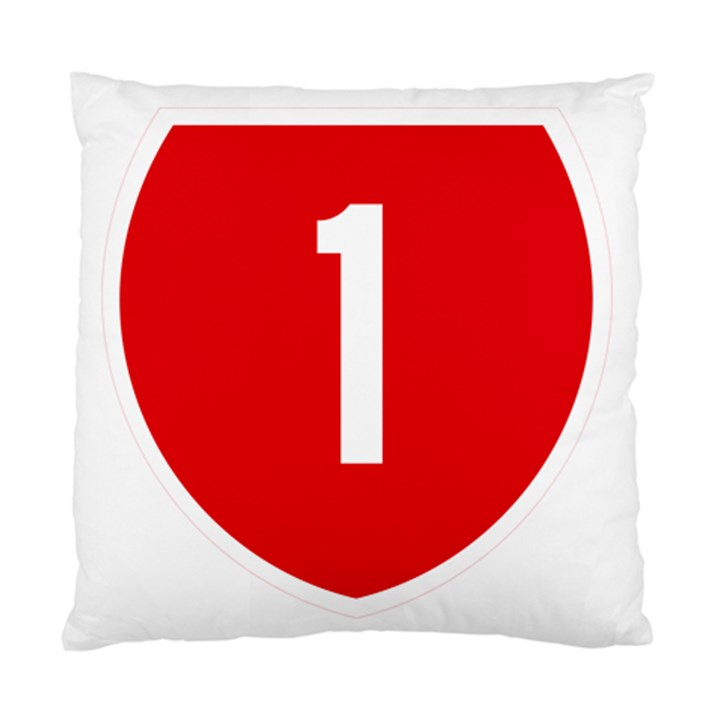 New Zealand State Highway 1 Standard Cushion Case (One Side)
