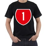 New Zealand State Highway 1 Men s T-Shirt (Black) Front