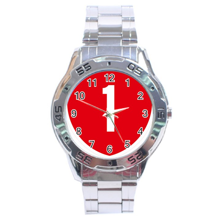 New Zealand State Highway 1 Stainless Steel Analogue Watch