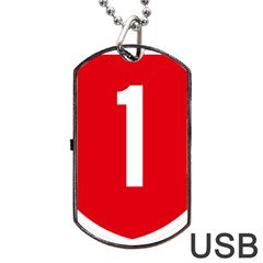 New Zealand State Highway 1 Dog Tag Usb Flash (one Side) by abbeyz71